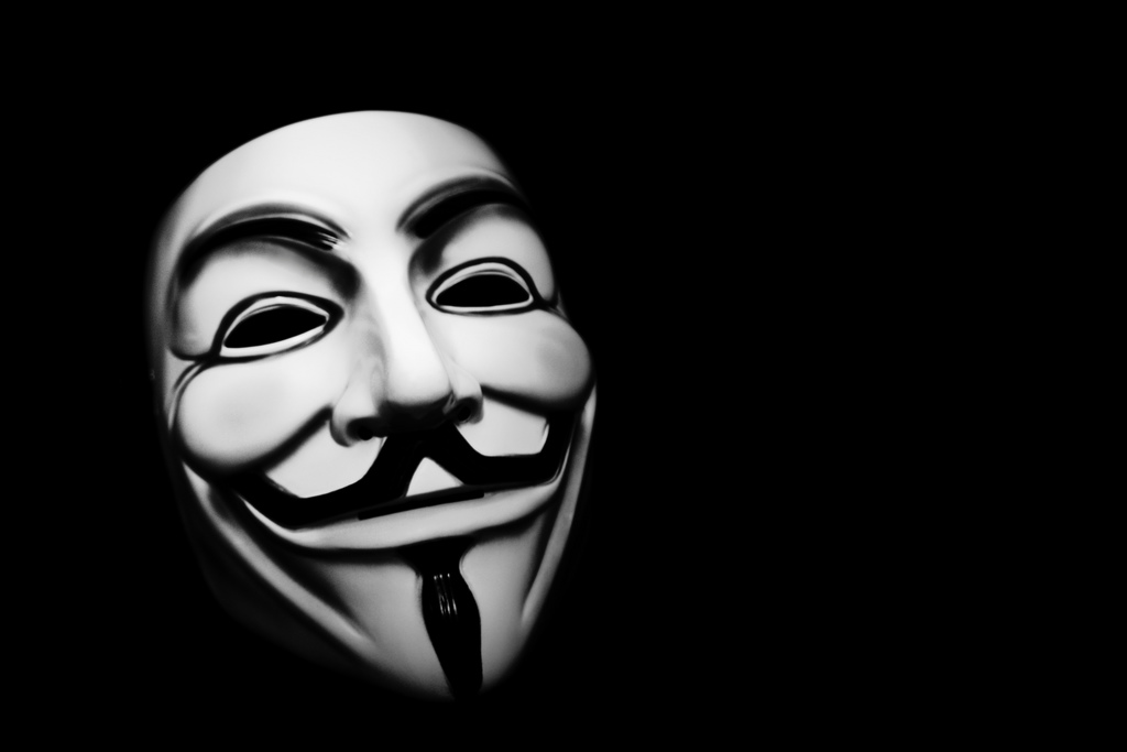 The icon of anonymity - a Guy Fawkes mask