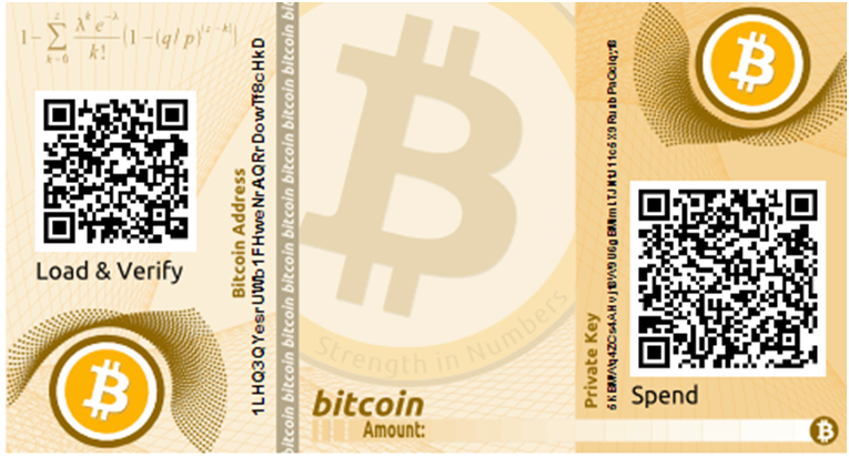 QR paper wallet for bitcoin