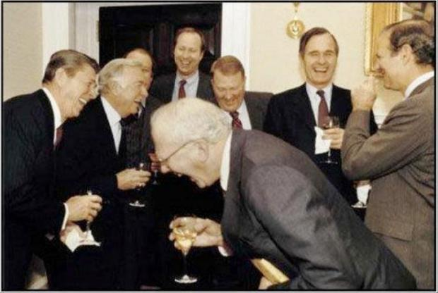 The ruling class laughing