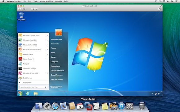 Windows inside OS X