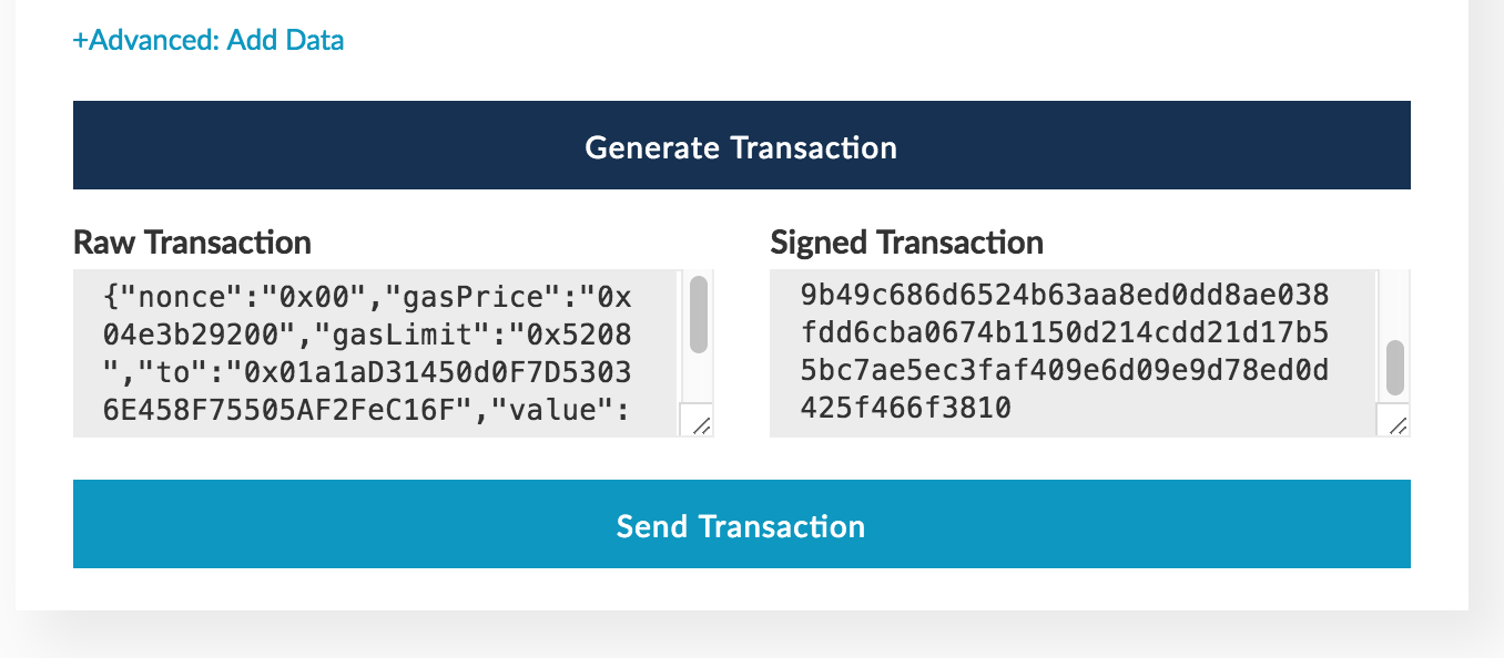 Generated transaction