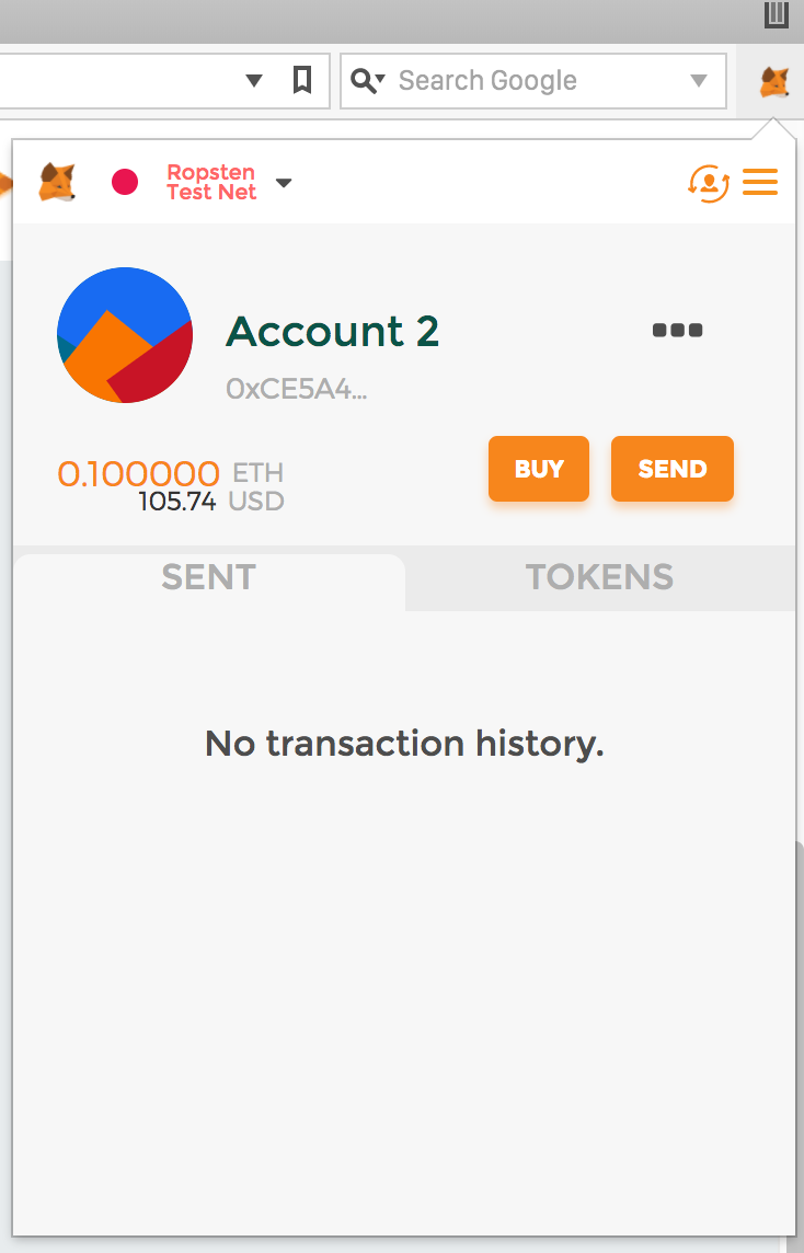 Sent transaction