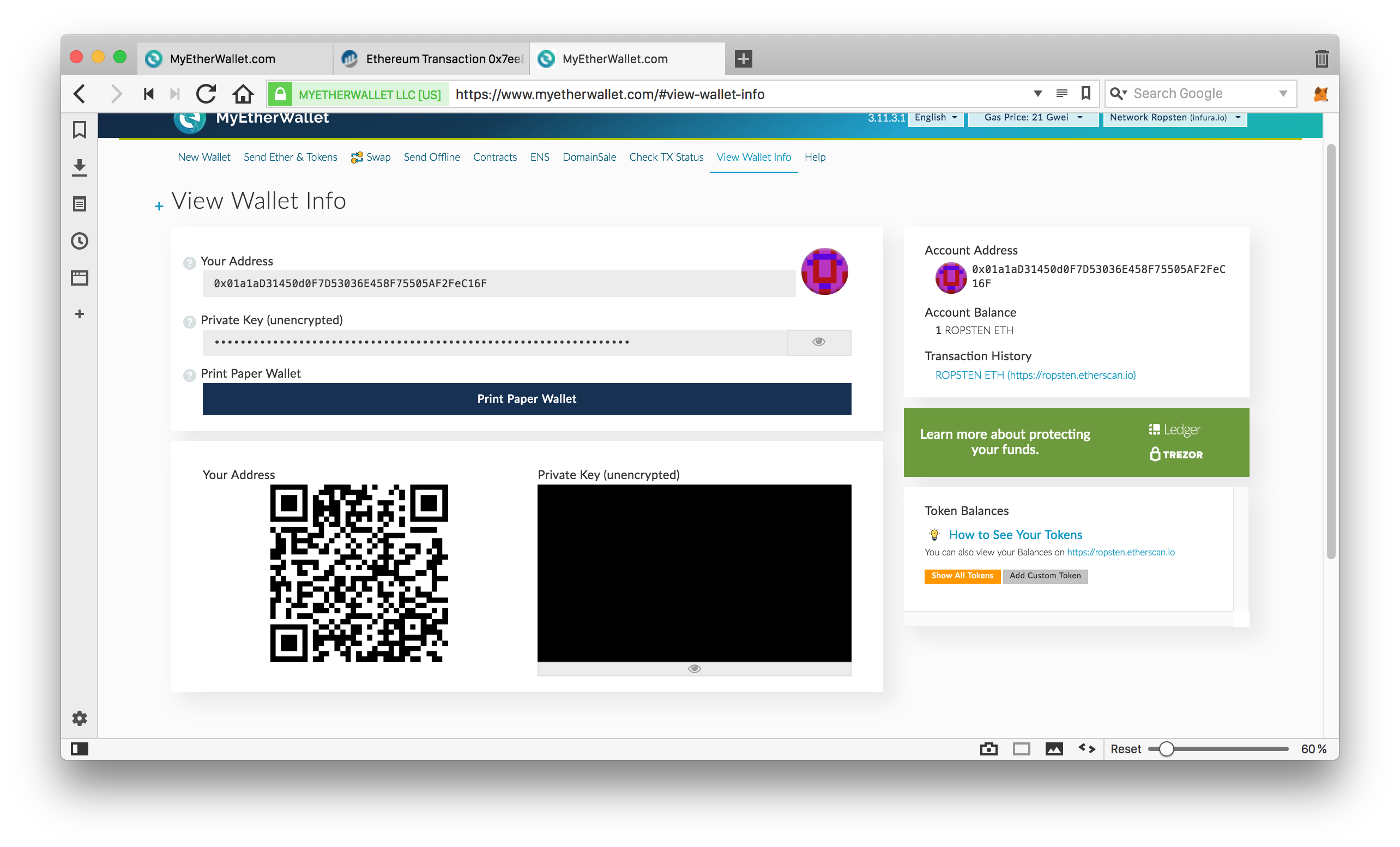 Your First Ethereum Address: Learning to Use MyEtherWallet - Bitfalls