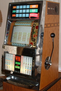 Electronic screen slot machine