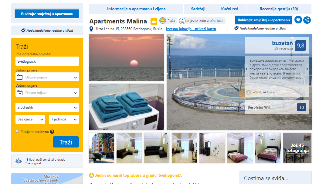 Malina Apartments on Booking.com
