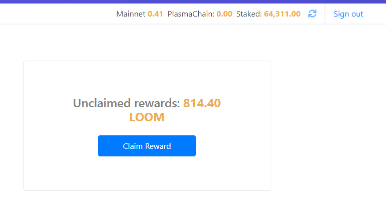 Loom reward